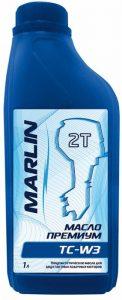 Масло MARLIN Премиум 2T, TC-W3 (1 литр)/полусинт.