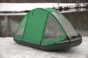 Фото тента-палатки на лодку Аква 3200