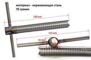 Фото Ввертыш (неподвижная ручка,16х1,5х130 мм)